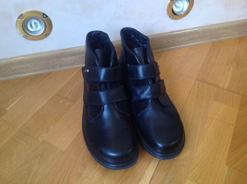 1573e5451 ... Мужские ортопедические демисезонные кожаные ботинки5 фото. Мужские ортопедические  демисезонные кожаные ботинки