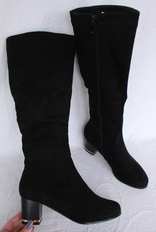 f774994a Демисезонные сапоги, сапожки на удобном, устойчивом каблуке 41 размера1 ...
