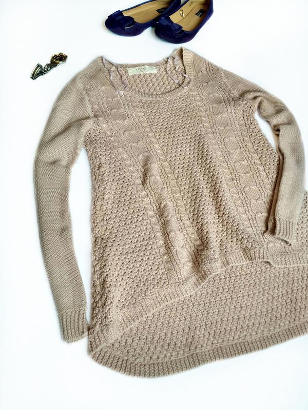 7de117af06f Вязаный свитер кофта zara 36р. ZARA