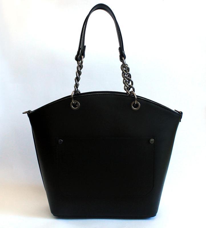 7f0247bf9de0 Большая черная итальянская кожаная сумка, (натуральная кожа, италия)1 ...