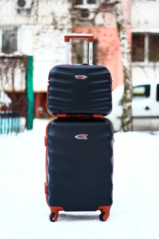 ad0bee8caac6 чемодан из поликарбоната средний черный валіза пластикова середня доставка1  ...
