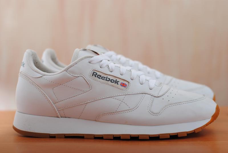 3355d6ce4 Белые кожаные мужские кроссовки reebok classic, рибок классик. 43 размер.  оригинал1 фото ...