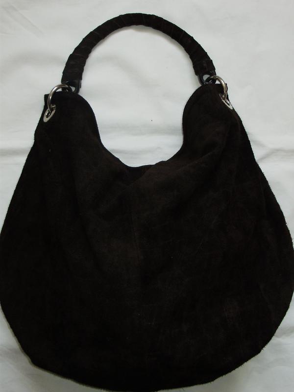 8b5a2565be5d Замшевая сумка-мешок, цена - 200 грн, #1311262, купить по доступной ...