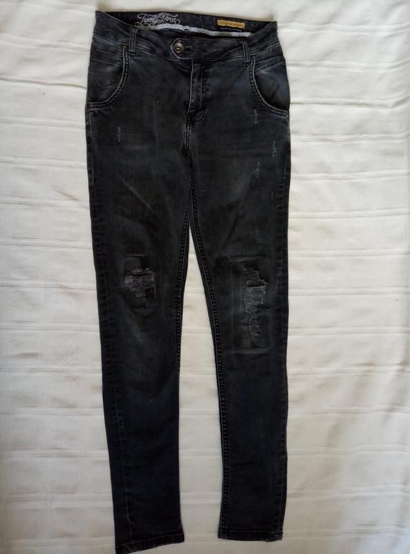 1069fefce47 Стильные черные потертые рваные джинсы женские модные высокие м американка1  фото ...