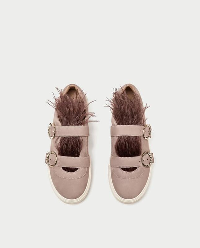 Замшевые кроссовки с перьями zara в стиле miu miu ZARA, цена - 699 ... 1d14ba24bd3