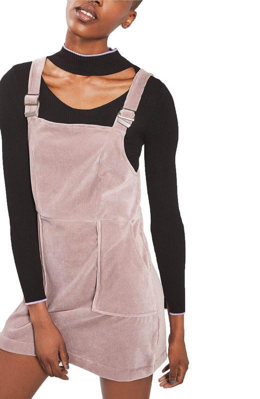 d0dda16dfd3 Вельветовый сарафан велюровый комбинезон платье пыльно-розовый topshop  бархатный1 фото ...