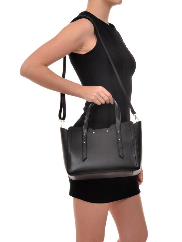 f0f9c341f641 Черная итальянская кожаная сумка (натуральная кожа сафьянно), италия1 ...