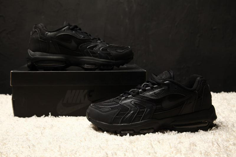 3ed0536e Черные мужские кроссовки nike air max 96 xx all black 43 44 рр1 фото ...