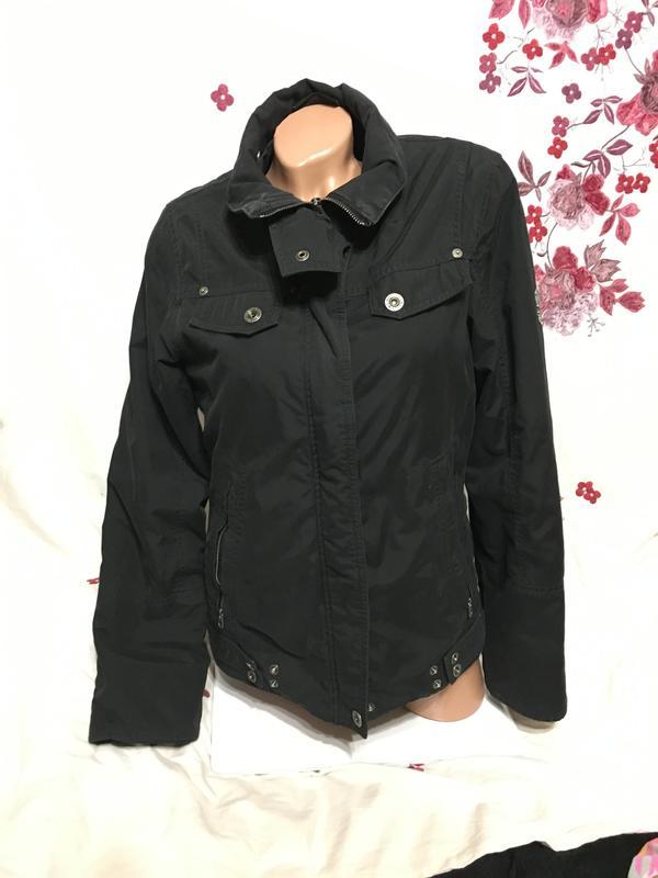 Esprit sport р. м л джинсовая теплая куртка осень зима весна байкерская1 ... 33bc0478b7aa6