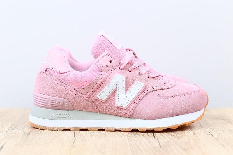 Женские кроссовки new balance розовые, из натуральной замши, разные  размеры1 ... cd801b376fb