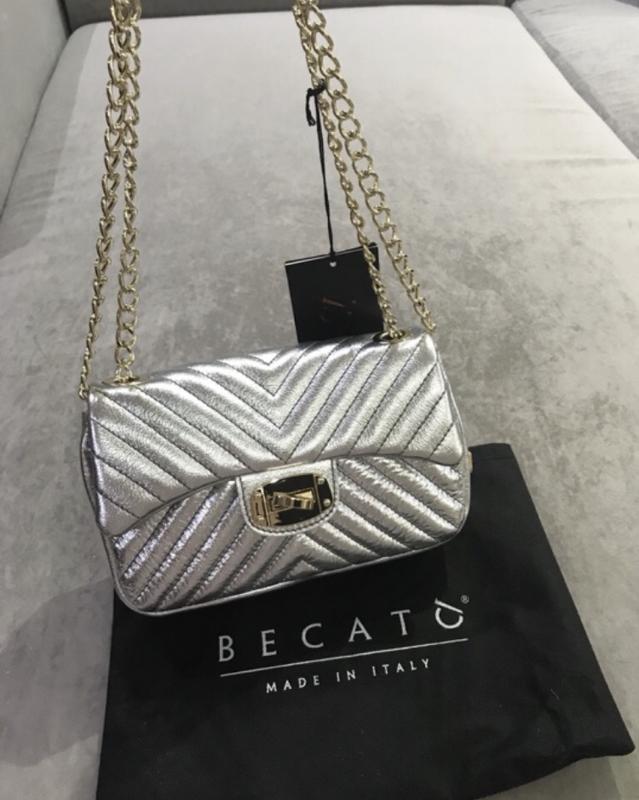 2e59d16ab225 Женская кожаная сумка becato серебряная,стальная, цена - 2800 грн ...