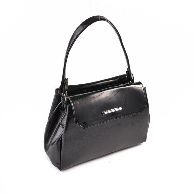 be4491cef9dc Черная маленькая сумка кросс боди через плечо с лаковыми вставками1 ...
