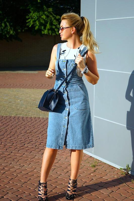 0930d286a949971 Джинсовый сарафан на пуговицах миди винтажный деним джинсовое платье  комбинезон комбез1 фото ...
