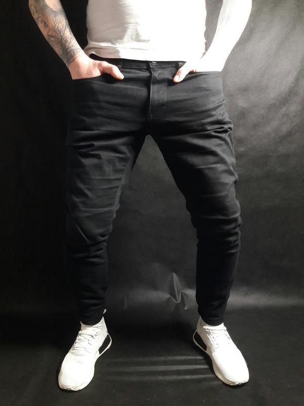 3fbdfb58d88 Мужские черные зауженные джинсы f f 34х321 фото