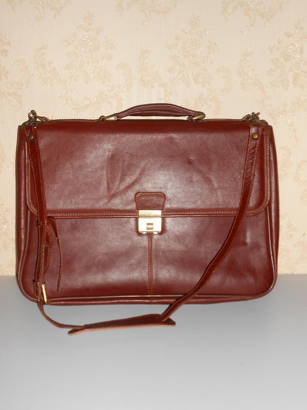 9b3d947f00a1 Шикарный мужской кожаный портфель genuine leather Италия, цена - 890 ...
