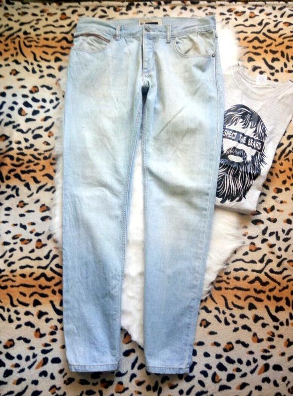 afe75b371ee Мужские светлые джинсы от topman плотные голубые синие1 фото ...