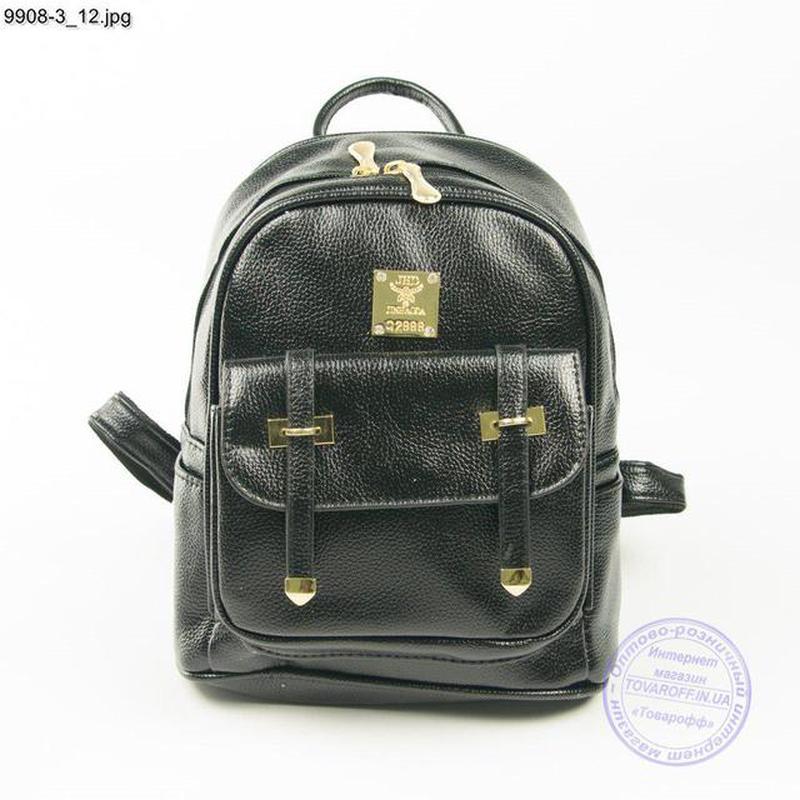 d39b640b330a Качественный рюкзак из эко-кожи черный - 9908-3/1, цена - 362 грн ...