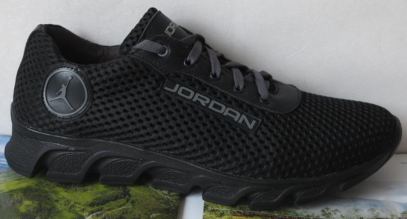 b1c3835eb ... Jordan! летние черные мужские подростковые кроссовки сетка кожа2 фото  ...