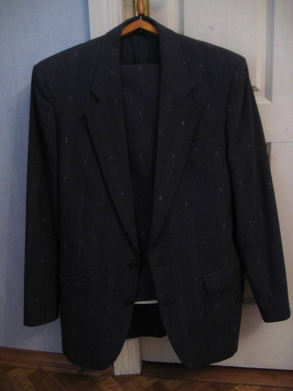 23fdffb63b5b Мужской брючный костюм в полоску брюки пиджак мужской костюм выпускной1 ...