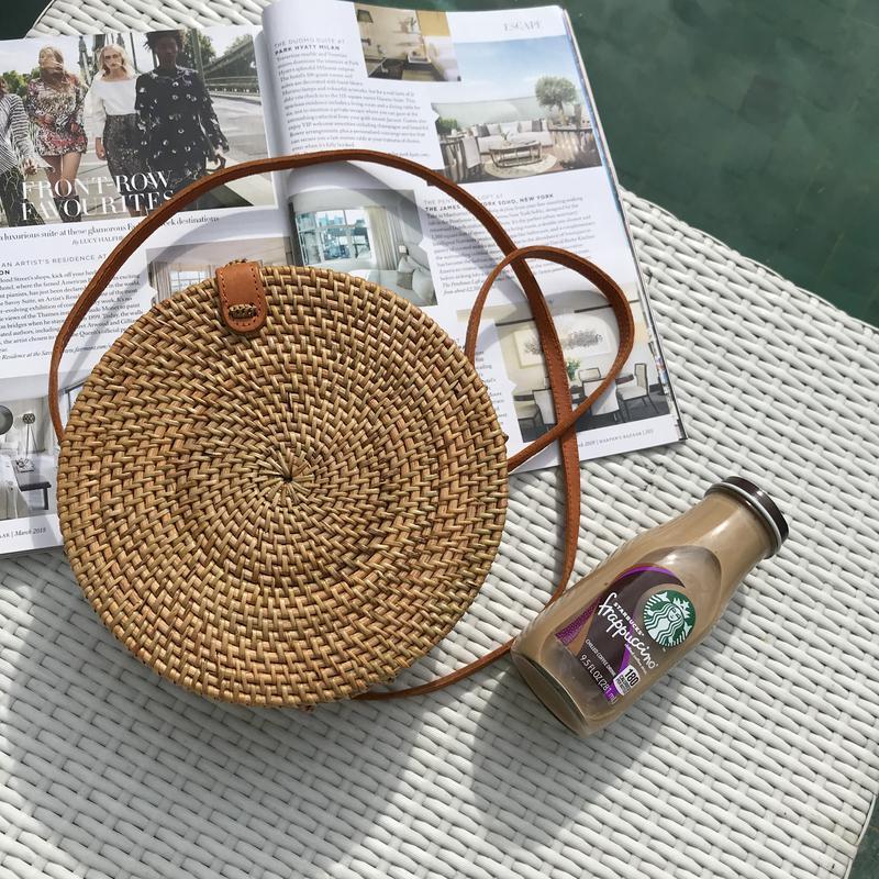 9456f2e0fb43 Круглая сумочка,соломенная сумка,сумочка из ротанга, сумка из соломы. тренд  2018 ...