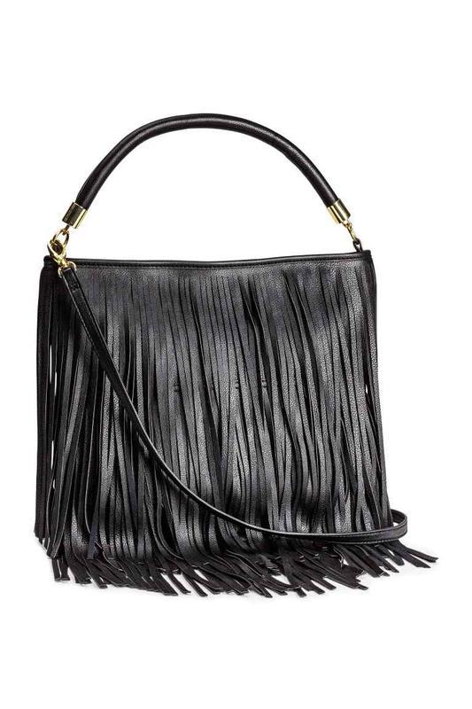 b58e18783 Сумка h&m с бахромой черного цвета. H&M, цена - 400 грн ...