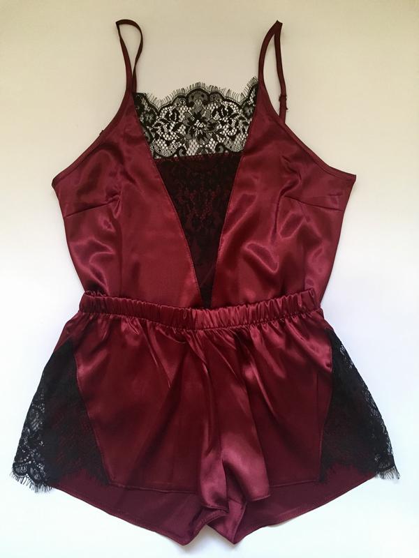 23126996a61c3 Пижама с кружевом атласная,пижама с шортами, цена - 300 грн ...