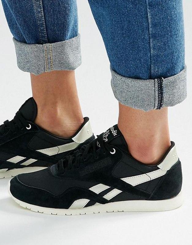 3685d322 Нові жіночі кросівки reebok cl nylon slim metallic . оригінал!1 фото ...