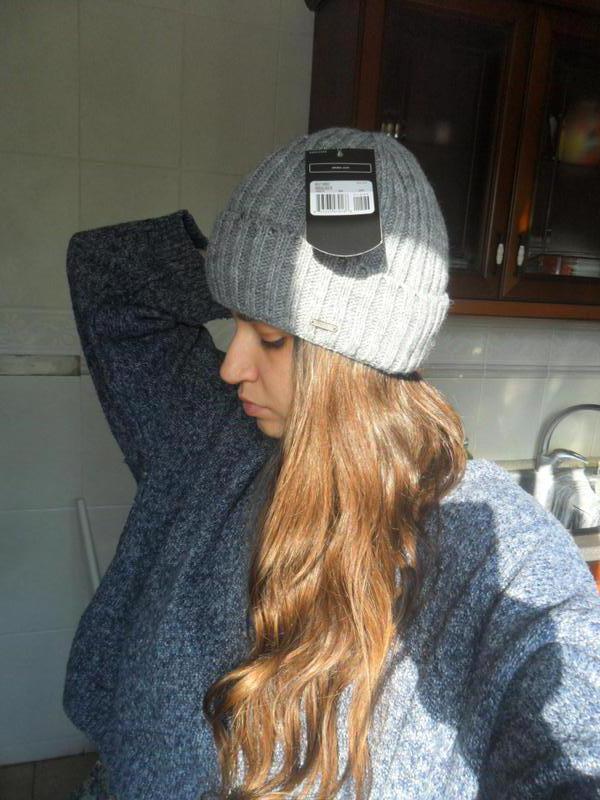 Стильная шапка с отворотом полушерсть 2b41b0a1077e9