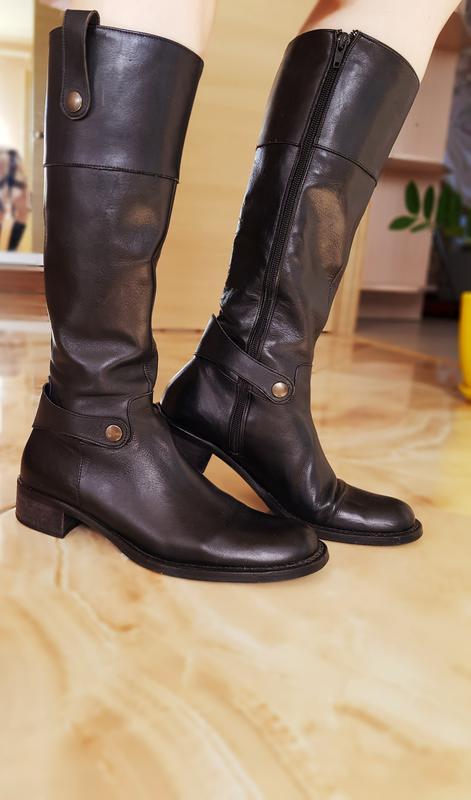 Весняні шкіряні кожание сапоги чоботи ботинки Navy 47abd7dcaf593