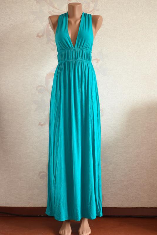 dfa513f3b70 Большой выбор платьев - шикарное бирюзовое платье макси