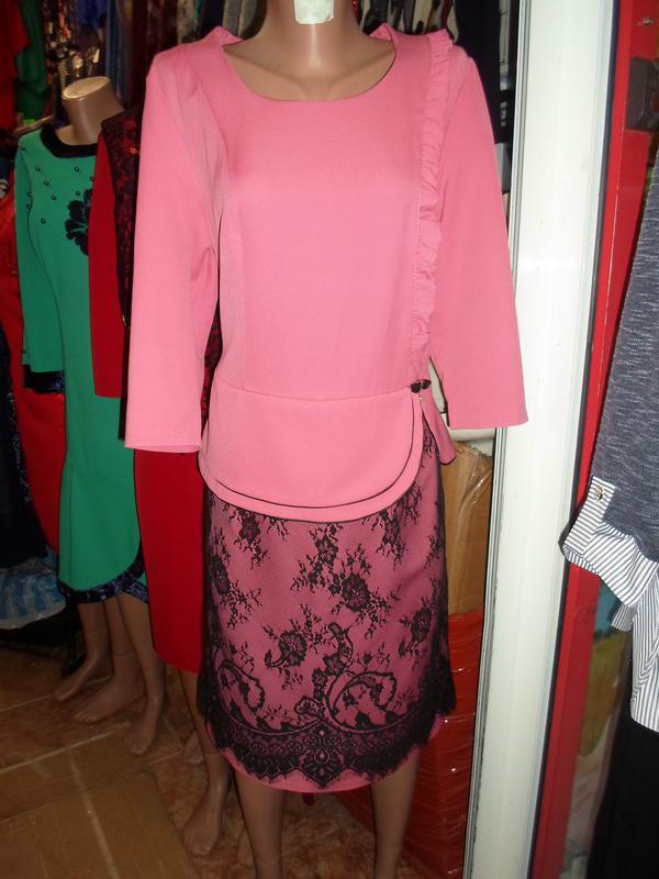 c4cb8df916ce1df ... Элегантные платья миди с гипюром батальных размеров,больших размеров3  фото