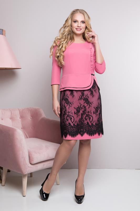 3d7dfb378a4aa26 Элегантные платья миди с гипюром батальных размеров,больших размеров1 фото  ...