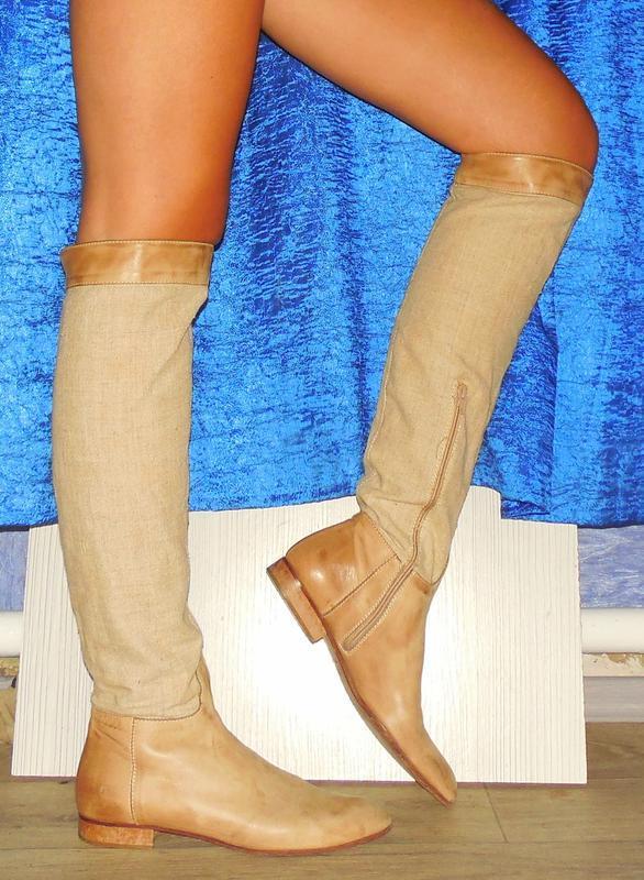 Срочно! шикарные ботфорты сапоги кожаные 40р. за 350 грн.  99a98d07d7971