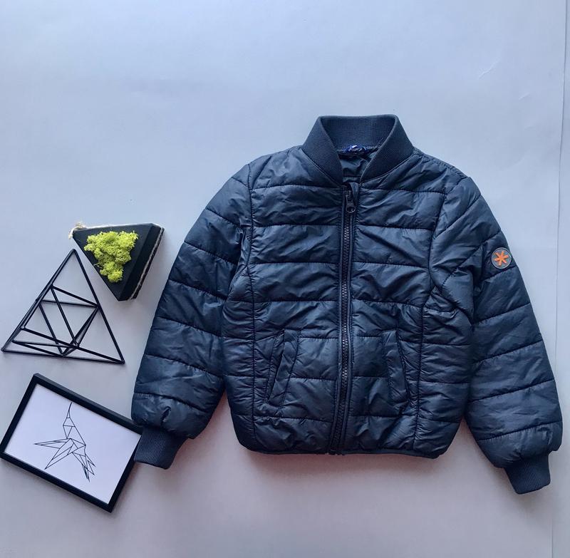 Детская синяя ветровка  бомбер куртка  стеганая курточка на мальчика  98-1041 ... 55d25ae5a8c7b