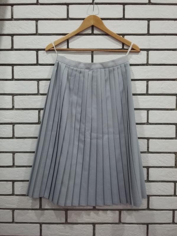 112d5ed9ffb Юбка - плиссе юбка - миди плиссированная в складку серо - голубого цвета1  ...