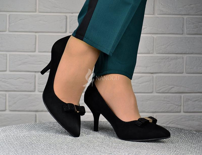 e3bf70f38 Туфли лодочки женские черные на каблуке с бантом roger vivier1 фото ...