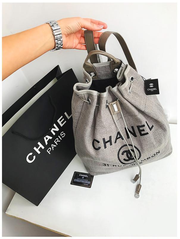 42728ba23ec5 Стильный летний рюкзак из льна в стиле chanel   лимитированная круизная  коллекция1 ...