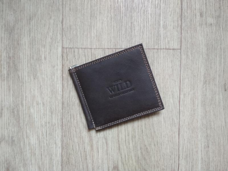 2722f36edf6f Кошелек с зажимом для денег брендовый. натуральная кожа буйвола1 ...