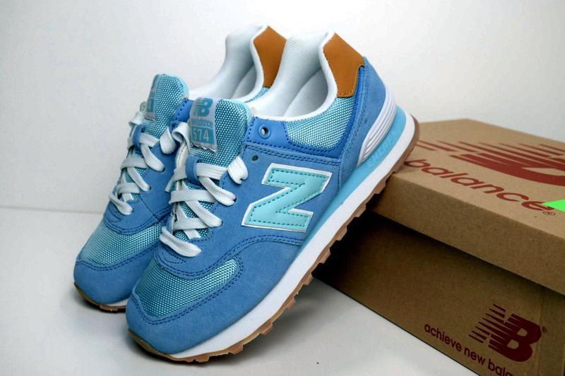 Кроссовки 36-40 new balance 574 натуральная замша женские кросівки голубой1  ... a882996e97a