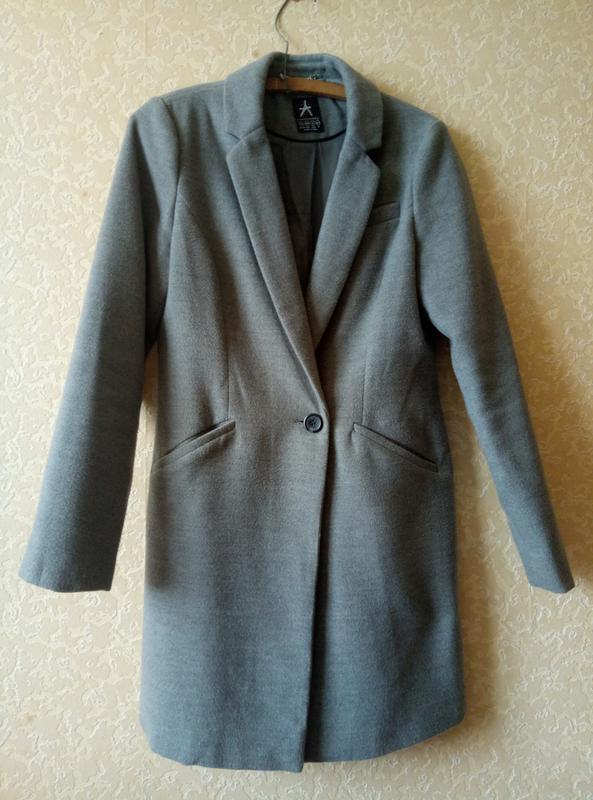 Серое пальто Atmosphere 243fcd417fb29