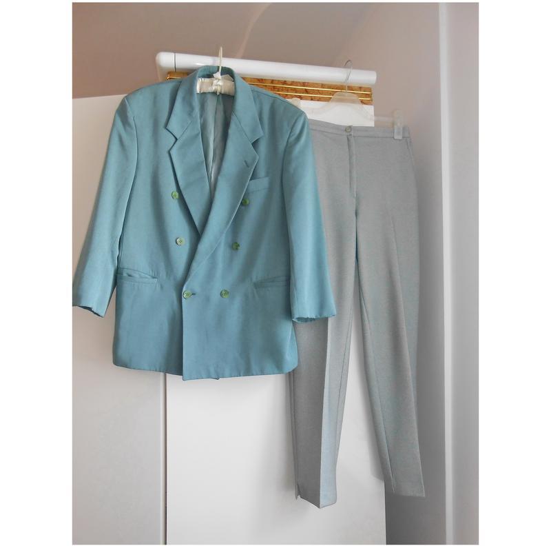 Классические брюки на высокой талии со стрелками цвета шалфей1 ... a084b3938d80a