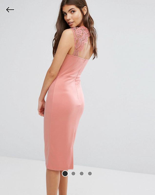 Ніжна сукня-футляр з мереживними плечиками club l(asos) ASOS a662413edf0c7