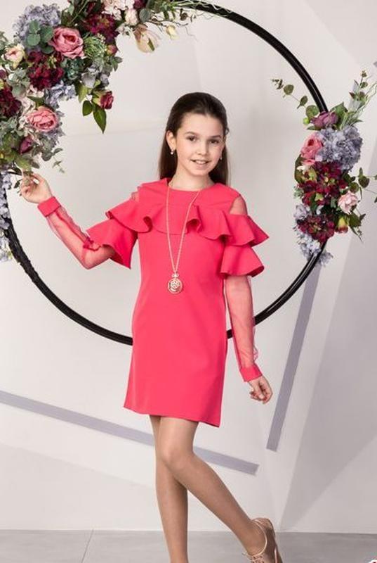 aca926d88084 Нарядное платье с воланами на девочку подростка размеры 134- 1581 ...