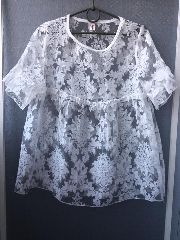 bd61762cf1d Легкая гипюровая блузка Klass Collection