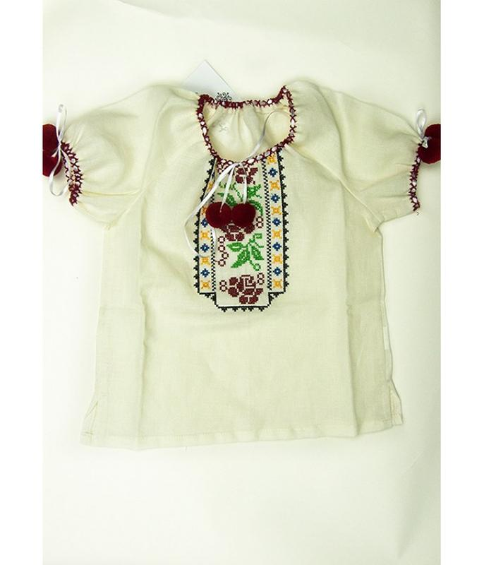 63aad556c00 Сорочка блуза вишита на дівчинку вишиванка вышиванка рубашка вышитая блузка  р.1101 фото ...