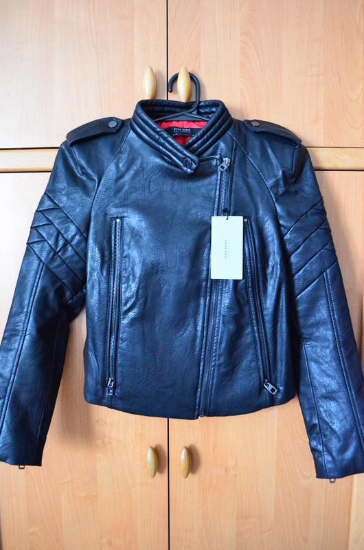 d290cd1c8c1e Новая курта косуха zara оригинал женская размер s черная кожзам ZARA ...