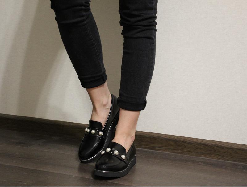 83707d0da Стильные и очень удобные черные женские туфли (лоферы, мокасины, балетки)1  фото ...