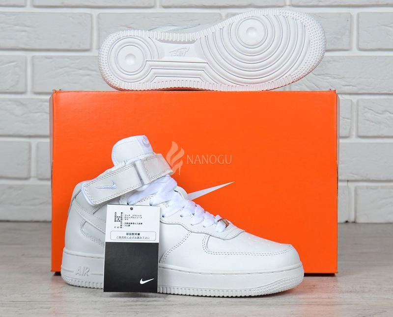 57aaf063 Кроссовки nike air force 1 high white кожаные высокие белые женские1 фото  ...