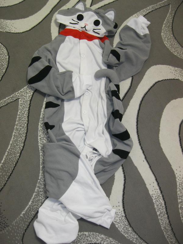7797b48965d4 Кошка шиншилла лемур слип кигуруми пижама футужама Love To Lounge ...