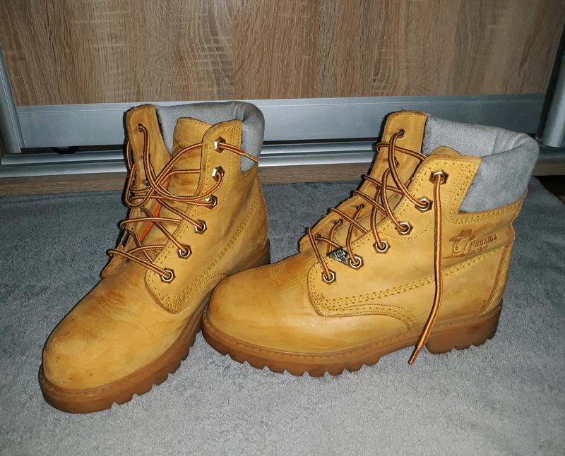 Классные весенние светлые ботинки из натуральной кожи panama jack, модель  timberland1 ... 9b7a714be3b